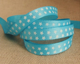 Blue Star Ribbon, width 10 mm, set of 5 meters
