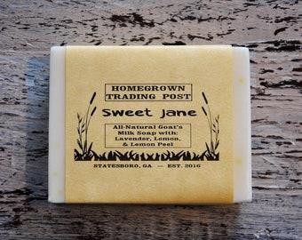 Sweet Jane All Natural Goat's Milk Soap