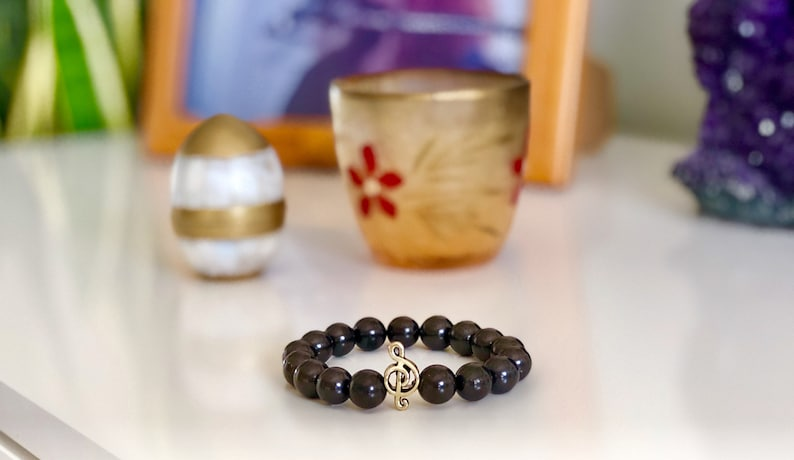Shungite bracelet 8 mm beads, EMF protection, Healing stone, Healing  crystal, Shungite jewelry,Natural stone Elite shungite,Best present