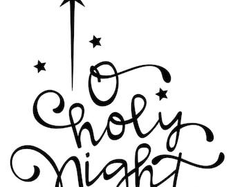 O HOLY NIGHT Decal