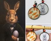 Cabochon rabbit carrot