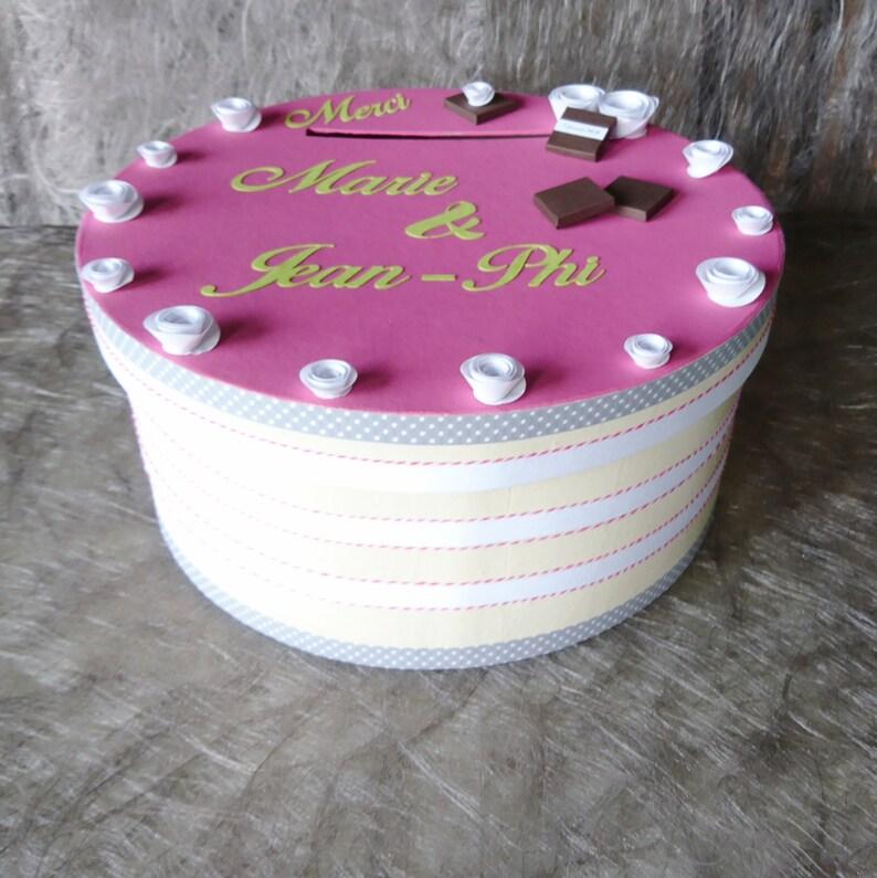 Urne Mariage Gourmandise Urne Gâteau Boîte à Enveloppes Baptême Chocolat Gâteau Rose Gourmandise Personnalisée Klrkrea