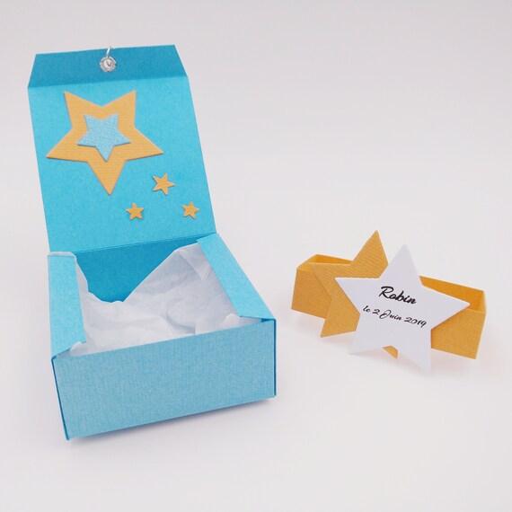Kästen Dragees Taufe Taufe Junge Geschenk Eingeladen Sterne Hochzeit Kommunion Anpassbar Klrkrea