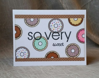 Handmade Thank You Card, Thank You Card, Greeting Card, Thinking of You, Friend, Friend Card, Thanks, Donuts, Donut Card
