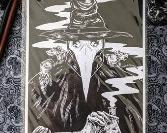 Plague Doctor    Art Print    A4