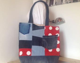 Tote bag in denim style