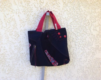 Bag Bi velvet and wool material