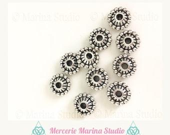 10 pearls 11mm bali silver 3D
