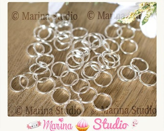 10 rings 9mm silver solid 925th - jump rings - jump rings