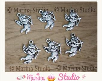20 Tibetan silver 22X16MM Cupid Angels charms