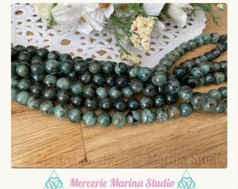 RARES Emerald Pearls A about 6mm or 8mm or 4mm natural 'reiki' chakra healing ' path of life bracelet