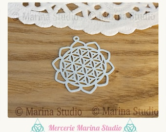 Flower of life pendant in stainless steel 30mm