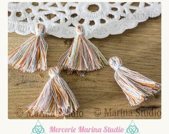4 tassels multi colour cotton ms64868 25mm