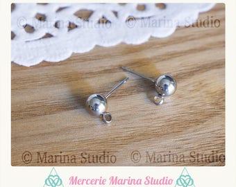 5 pairs of chip stainless steel stud earrings