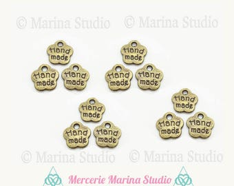 handmade 8mm hand-made 10 bronze charms