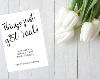 Printable Funny Save The Date Shit Just Got Real Vulgar - Funny save the date templates