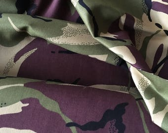 Camo Cotton Drill Fabric 150cm Wide Army Camouflage Material