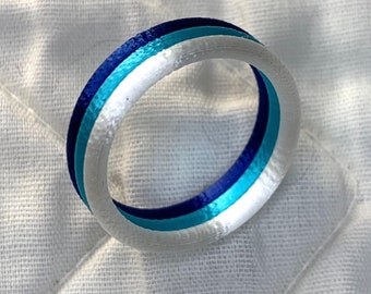 3d-printed Tri-colored Ring 3 color finger bands