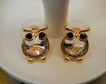 little owls in forest (earrings)