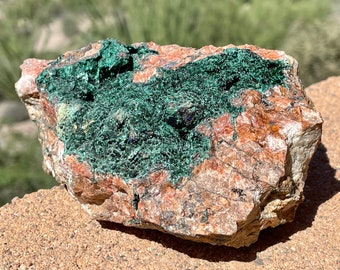 Raw Malachite Stone, Moroccan Malachite with Matrix Mineral Specimen, Copper Ore, Geology Gifts, Gift for Friend, 833 grams (29.3 ounces)