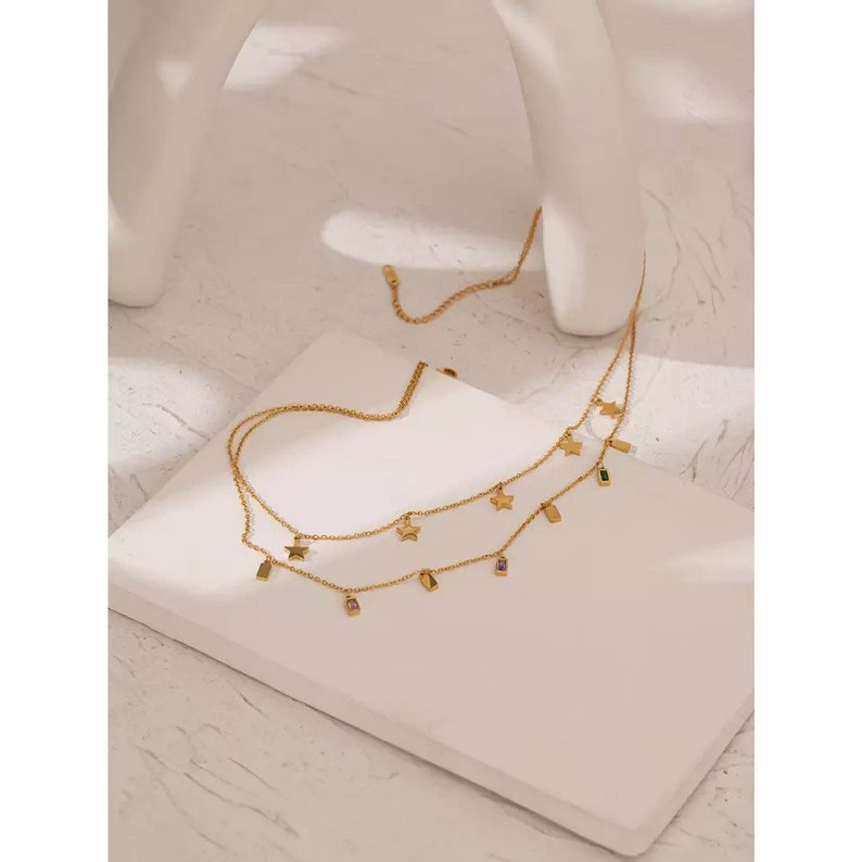 April Non Tarnish Stainless Steel Necklace
