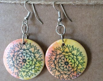 Mandala earrings 1