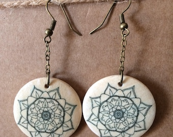 Mandala earrings 6