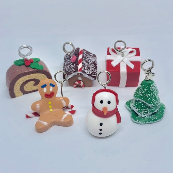 Polymer Clay Christmas Decorations.Set Of 6 Seater Christmas Polymer Clay Christmas Table Christmas Decoration