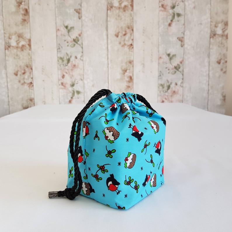 Perfect for Christmas Gift. Small Drawstring bag