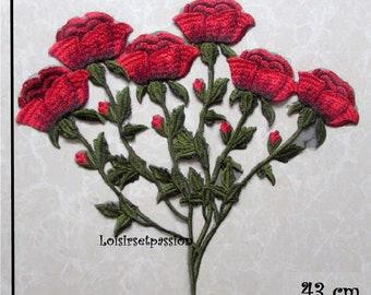 Jaune Bijou Fleur 4.5 cm enfants colle sur Sew on applique écusson patch Trim