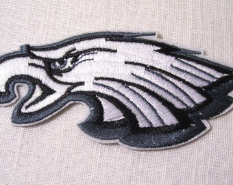 Bird of prey Eagle head Royal white grey - patch embroidered patch Thermo * 5 x 12 cm *.