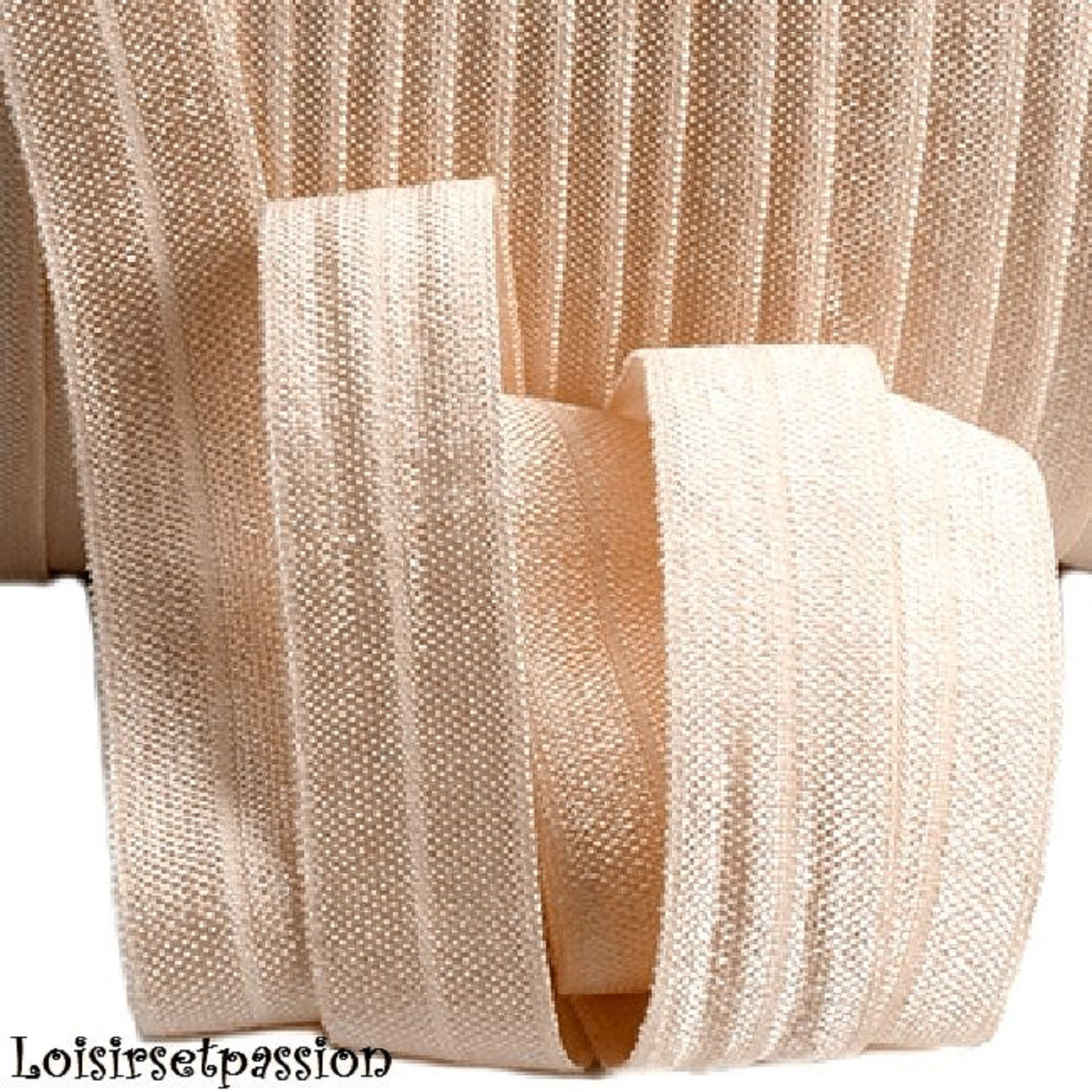 Ivory Bias Binding Tape 16mm 1//2 Inch Double Folded Bias choose from 1m Meter