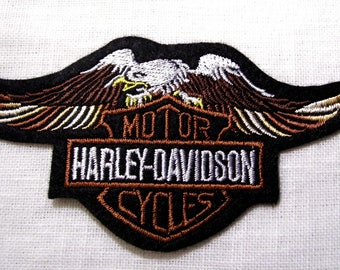 Bird of prey Eagle motorcycle Cycles - patch embroidered patch Thermo * 6.5 x 12 cm *.