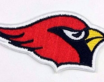 Bird of prey Eagle head Royal Red - patch embroidered patch Thermo * 5 x 10 cm *.