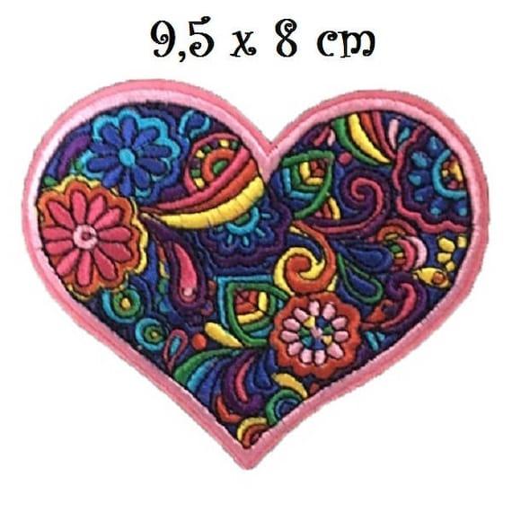 9 x 8,5 cm ÉCUSSON PATCH THERMOCOLLANT ÉTOILE SEQUIN MULTICOLORE applique