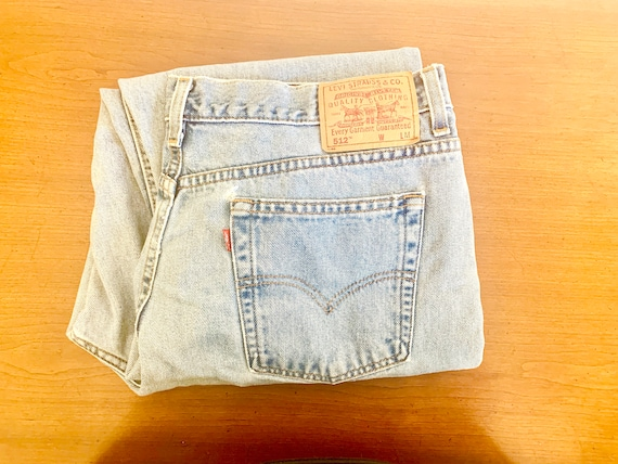 Faded Levis 512 High Rise Womens Size 18 Jeans Sli