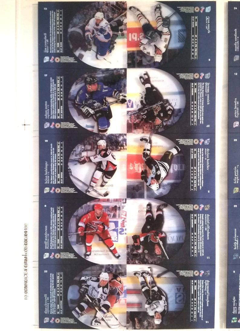 1997 \u2013 1998 Ice Performers Press Sheet UPPER DECK