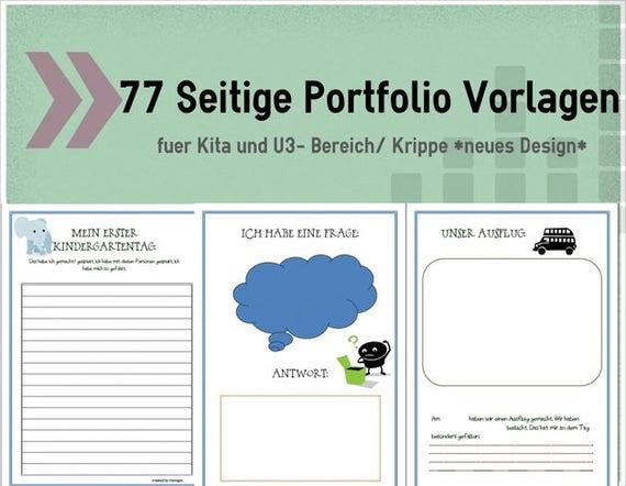 Portfolio In Kindergarten Kita Krippe Hort Kitalino 4