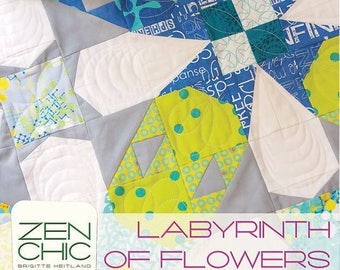 Labyrinth of Flowers pattern by Brigitte Heitland from Zen Chic