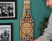 Personalised Beer Bottle Wall Art For The Home - Beer Cap Collector - Unusual Gift for Him - Gift for Men
