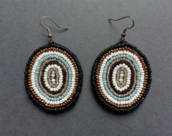 Concentric, Oval Bead Earring