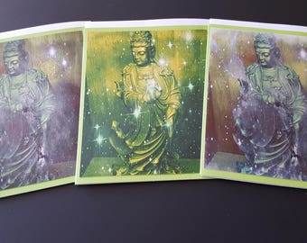 Quan Yin 3 Card Set Green Two