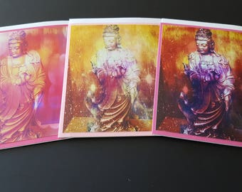Quan Yin 3 Card Set Pink