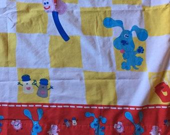 BLUES CLUES Vintage Fabric Flat Sheet 1990s