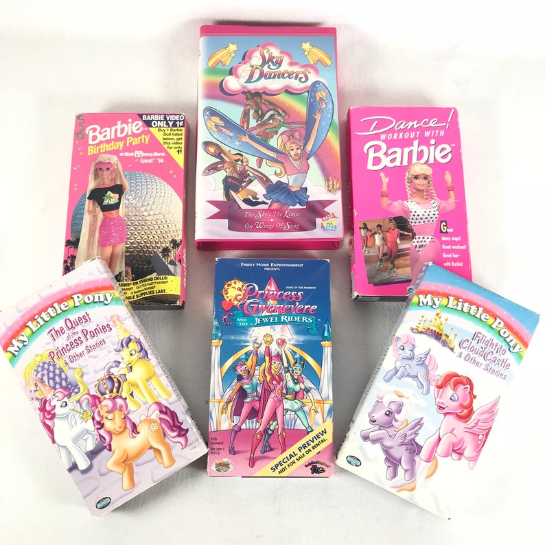 Vintage Girly Vhs Tapes You Choose 90s 80s Barbie Etsy