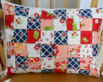 Decorative Pillow Cover, Patchwork Pillow Cover, Matching Pillow Cover, Ready to Ship, Shower Gift