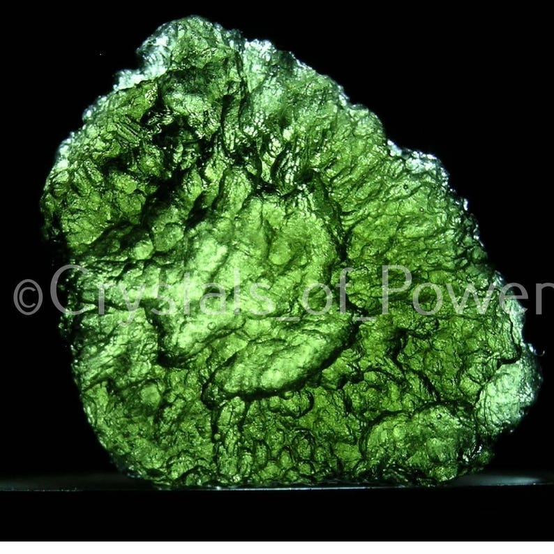 One Moldavite! Rare Museum Quality! Meteorite Tektite! 100% Raw, Natural &  Genuine! Certificate of Authenticity Included! Some w/Rainbows!