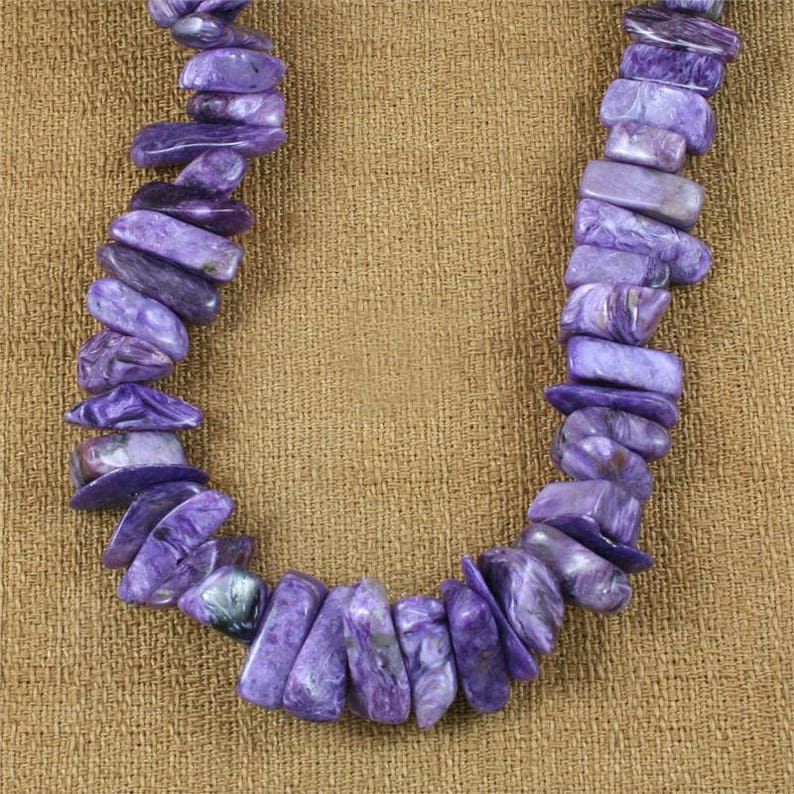 36 Polished Large A+ Nugget Necklace One Charoite Crystal Necklace Cleanses Negative Energy Powerful Protection Healing!