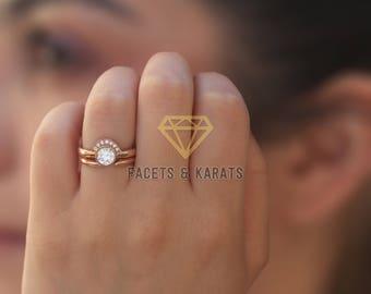 Unique Wedding Ring Set Etsy
