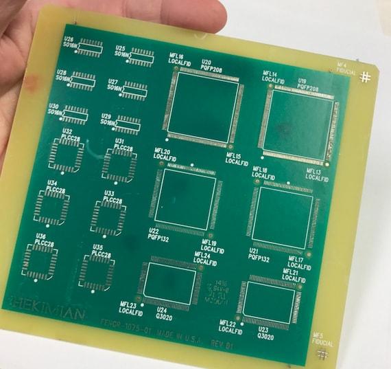 vintage recycled loose circuit board dark green circuitry etsy rh etsy com
